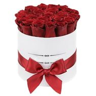 31 roses in a box - flowers and bouquets on flora.lg.ua
