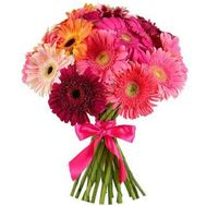 Bouquet of different color gerberas - flowers and bouquets on flora.lg.ua