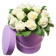 Nice box of white roses - flowers and bouquets on flora.lg.ua