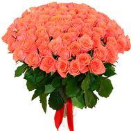 101 orange rose - flowers and bouquets on flora.lg.ua