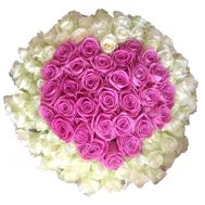 101 rose bouquet heart - flowers and bouquets on flora.lg.ua