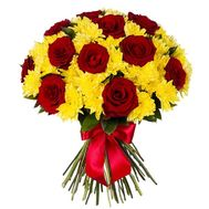 Bouquet of flowers - Fiery amber - flowers and bouquets on flora.lg.ua