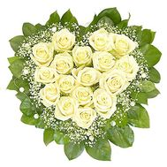 Flower Arrangement in Heart Shape - Anastasia - flowers and bouquets on flora.lg.ua