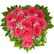 Flower Arrangement in Heart Shape - Bella - flowers and bouquets on flora.lg.ua