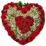Flower Arrangement in the Heart Style With Love for You - flowers and bouquets on flora.lg.ua