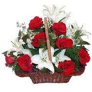 Flower basket - Adriana - flowers and bouquets on flora.lg.ua