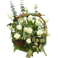 Flower basket - Hera - flowers and bouquets on flora.lg.ua