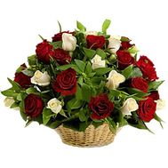 Flower basket - Inessa - flowers and bouquets on flora.lg.ua