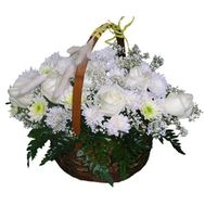 Flower basket - Karen - flowers and bouquets on flora.lg.ua