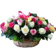 Flower basket - Carnival - flowers and bouquets on flora.lg.ua