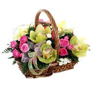 Flower basket - Katharina - flowers and bouquets on flora.lg.ua
