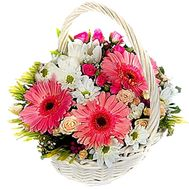 Flower basket - Lily - flowers and bouquets on flora.lg.ua