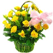 Flower basket - Hope - flowers and bouquets on flora.lg.ua