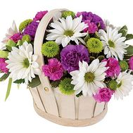 Flower basket - Nick - flowers and bouquets on flora.lg.ua