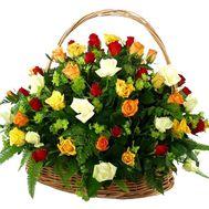 Flower basket - Sympathy - flowers and bouquets on flora.lg.ua
