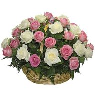 Basket of roses - Vesta - flowers and bouquets on flora.lg.ua