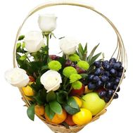 Fruit and flower basket - flowers and bouquets on flora.lg.ua